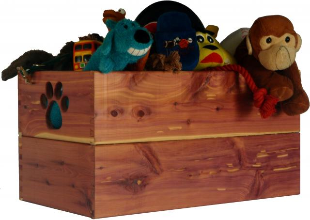 Dynamic Accents Pet Toy Box - Cedar