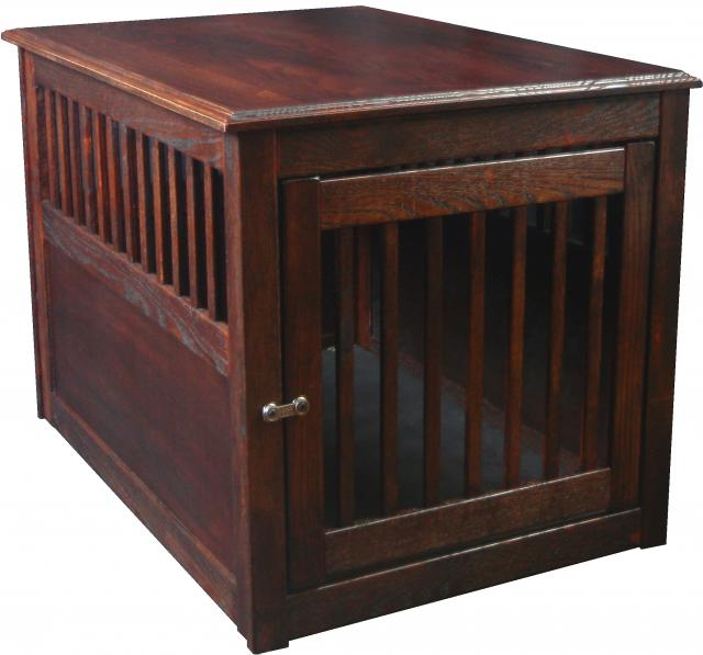 Kennel Deck Dog Crates Dynamic Accents Large Oak End