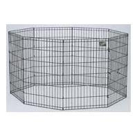 Exercise Pen with Door -Black