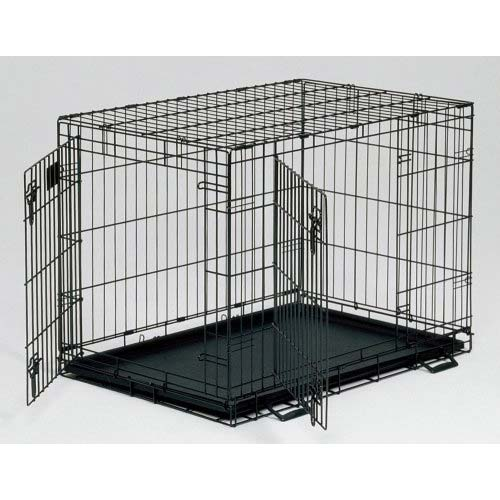 Kennel deck dog crates double door dog crate for Double door with dog door
