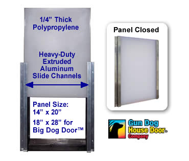 "Heavy Duty Dog Door Closing Panel - 14"" x 20"""