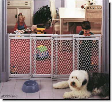 Kennel Deck Dog Gates Extra Wide Gate Plastic