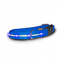 Visiglo Blue Nylon Collar with Blue LED