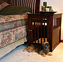 Dynamic Accents Medium End Table Crate - Mahogany