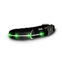 Visiglo Black Nylon Collar with Jade Green LED