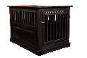 Dynamic Accents Fortress End Table Pet Crate Large - Black