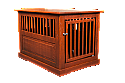 Dynamic Accents Fortress Oak End Table Pet Crate Large - Mahogany