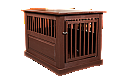 Dynamic Accents Fortress End Table Pet Crate Large - Mahogany