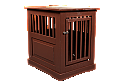 Dynamic Accents Fortress End Table Pet Crate Medium - Mahogany